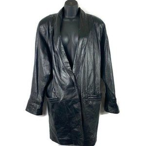 Wilsons Leather Womens Leather Coat Sz Med Black